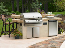 Your New Outdoor Grill with Natural or LP Gas Line